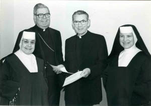 (left to right) Mother with Bishop Ward, Cardinal Manning, and Sister Josephine