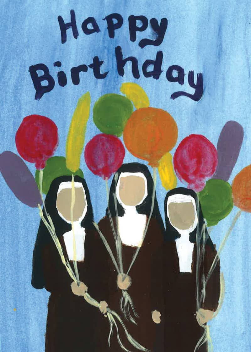 birthday cards  carmelite sisters of the most sacred